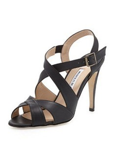 Etola Leather Crisscross Sandal, Black   Etola Leather Crisscross Sandal, Black
