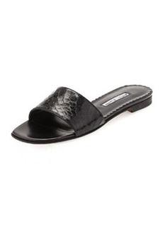 Falco Snakeskin Slide Sandal, Black   Falco Snakeskin Slide Sandal, Black