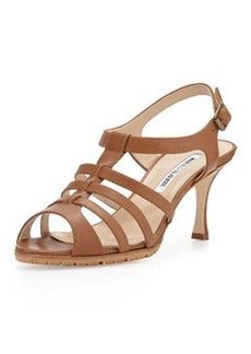 Guillerin Strappy Leather Sandal, Camel   Guillerin Strappy Leather Sandal, Camel