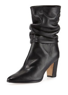 Knight Ruched Leather Boot   Knight Ruched Leather Boot