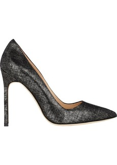 Manolo Blahnik Abstract-Print BB Pumps