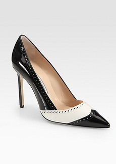 Manolo Blahnik Agata Leather & Patent Leather Spectator Pumps