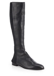 Manolo Blahnik Ambia Stretchy Leather Knee-High Boots