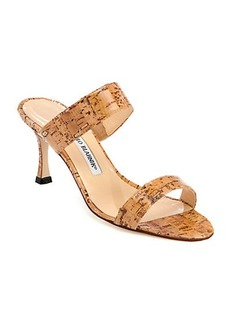Manolo Blahnik Angufac Cork Sandals