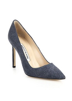 Manolo Blahnik BB Denim Pumps