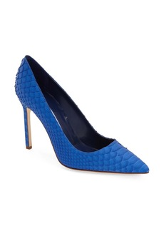 Manolo Blahnik 'BB' Genuine Python Pointy Toe Pump