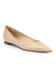 Manolo Blahnik BB Patent Leather Ballet Flats