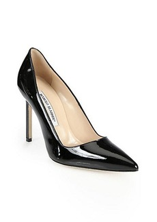 Manolo Blahnik BB Patent Leather Point-Toe Pumps