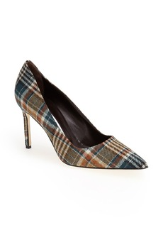 Manolo Blahnik 'BB' Plaid Pointy Toe Pump (Women)