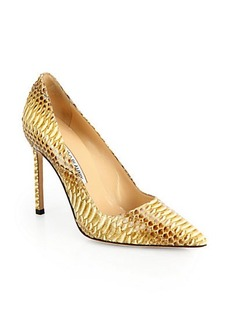 Manolo Blahnik BB Snakeskin Pumps