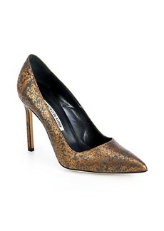 Manolo Blahnik BB Speckled Leather Pumps