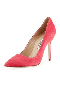 Manolo Blahnik BB Suede 105mm Pump, Watermelon