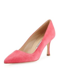Manolo Blahnik BB Suede 70mm Pump, Watermelon
