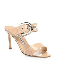Manolo Blahnik Bila Patent Leather Sandals