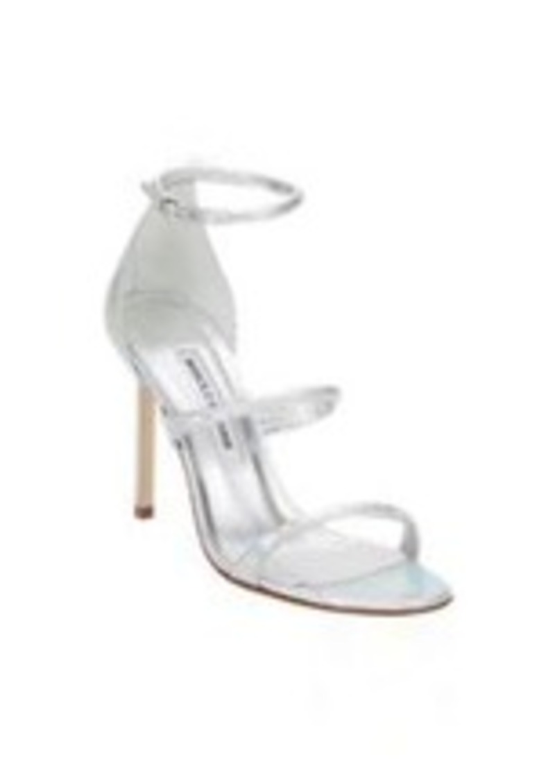 Manolo Blahnik Bombita Triple-Band Sandals