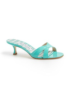 Manolo Blahnik 'Callamu' Patent Leather Slide Sandal (Women)
