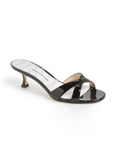 Manolo Blahnik 'Callamu' Patent Leather Slide Sandal (Women)