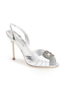 Manolo Blahnik 'Cassia' Ornamented Slingback Sandal (Women)