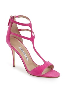 Manolo Blahnik 'Cellin' Double T-Strap Sandal (Women)