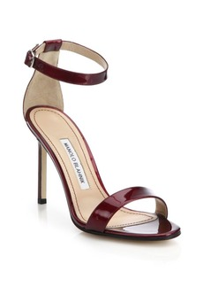 Manolo Blahnik Chaos Patent Leather Sandals