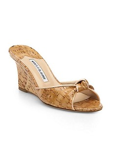 Manolo Blahnik Cork Wedge Slide sandals