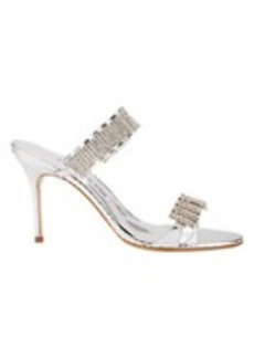 Manolo Blahnik Dallifaco Crystal-Strap Sandals