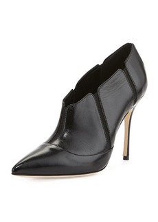 Manolo Blahnik Desolada Stretch-Inset Ankle Boot