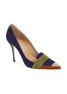 Manolo Blahnik 'Durut' Suede Pointy Toe Pump (Women)