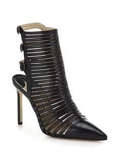 Manolo Blahnik Elvia Leather Sandal Booties
