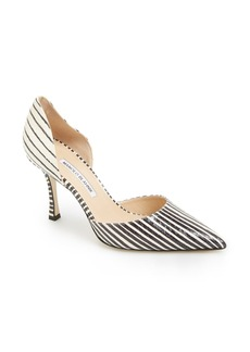 Manolo Blahnik 'Ganici' Snake Embossed Leather d'Orsay Pump (Women)