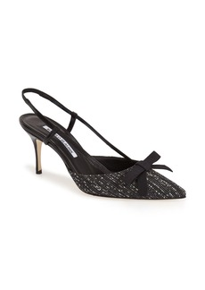Manolo Blahnik 'Halter' Slingback Pointy Toe Pump (Women)