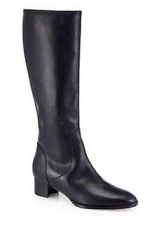 Manolo Blahnik Hanzuofla Leather Knee-High Boots