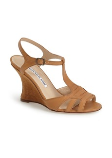 Manolo Blahnik 'Hiken' Wedge Sandal (Women)