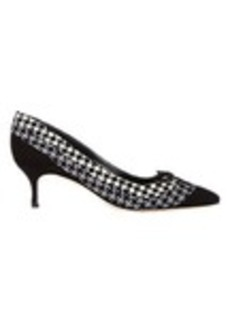 Manolo Blahnik Houndstooth Sfida Pumps