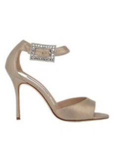 Manolo Blahnik Jeweled-Buckle Dribbin Sandals