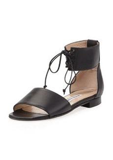 Manolo Blahnik Kevo Ankle-Wrap Band Sandal