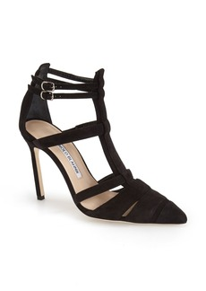 Manolo Blahnik 'Kingsley' Pointy Toe Sandal (Women)