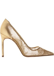 Manolo Blahnik Lace BB Pumps