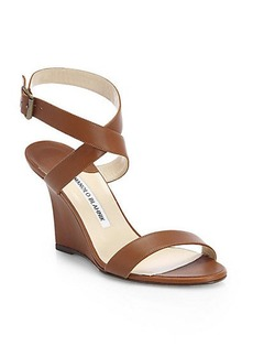 Manolo Blahnik Lecara Wedge Sandals