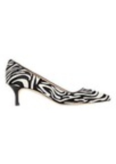Manolo Blahnik Leopard Pointed-Toe Kitten Pump