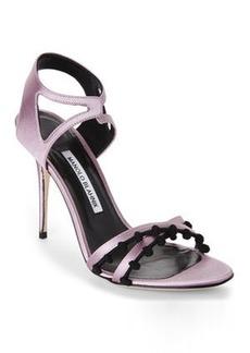 manolo blahnik Lilac & Black Esparra Sandals