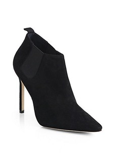 Manolo Blahnik Linus Suede Point-Toe Booties