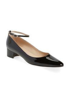 Manolo Blahnik 'Listony' Ankle Strap Block Heel Patent Pump (Women)