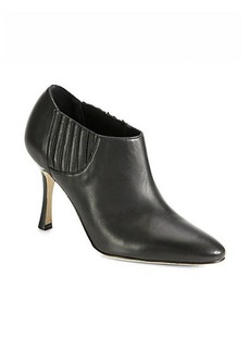 Manolo Blahnik Livrea Leather Booties