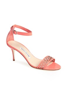 Manolo Blahnik 'Maurila' Leather Ankle Strap Sandal (Women)