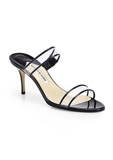 Manolo Blahnik Mucula Translucent Double-Banded Sandals