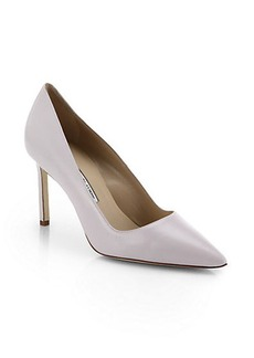 Manolo Blahnik Nappa Leather Point Toe Pumps