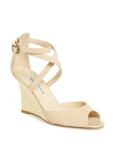 Manolo Blahnik 'Nove' Wedge Sandal (Women)