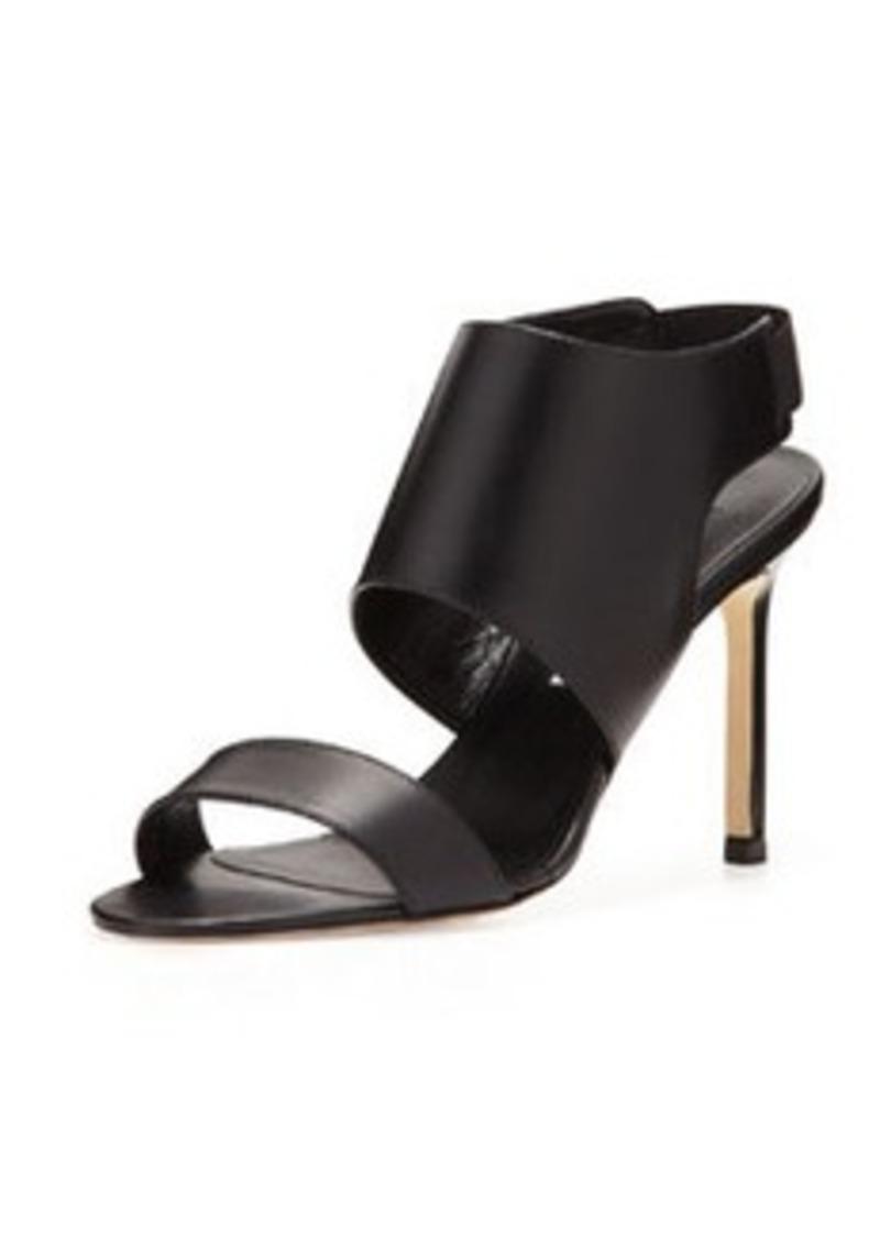 Manolo Blahnik Open-Toe Elastic Slingback Sandal, Black
