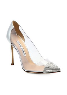 Manolo Blahnik Pachacry Jeweled Cap Toe Pumps